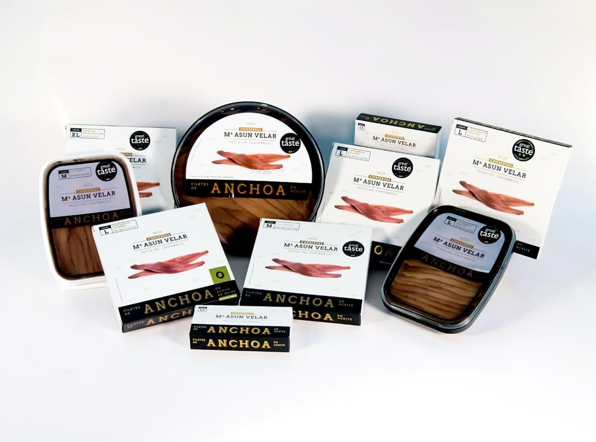 Conservas de anchoa del Cantábrico